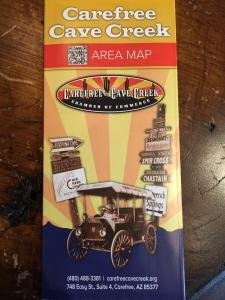 Detailed street map of Carefree Cave Creek Arizona, all streets listed, Carefree Cave Creek Chamber of Commerce