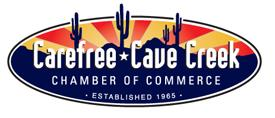 Carefree Cave Creek Chamber Sticky Logo